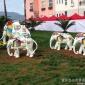 叁柒度玻璃钢景观雕塑定制彩绘大象卡通动物公园绿地广场景观雕塑摆件